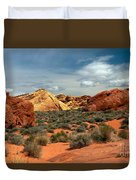 Valley Of Fire Duvet Cover by Robert Bales
