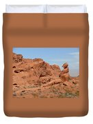 Valley Of Fire Rock Formations Duvet Cover