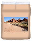 Valley Of Fire Wash Duvet Cover by Gary Whitton