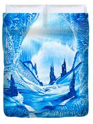 Valley Of The Castles Painting Duvet Cover
