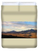 Valley Shadows Snowy Peaks Duvet Cover