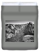 Valley View At Glacier Point Duvet Cover