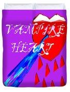 Vampire Heart Duvet Cover