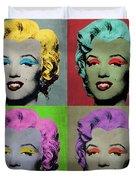 Vampire Marilyn Set Of 4 Duvet Cover