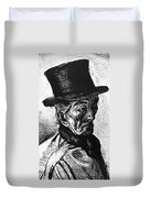 Man With Top Hat Duvet Cover