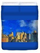 Van Gogh Meets Manhattan Duvet Cover