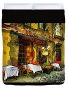 Van Gogh Style Restaurant Duvet Cover
