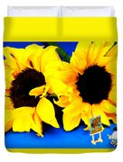 Van Gogh's Sunflower Miniature Art Duvet Cover