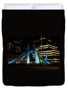 Vancouver - 2010 Olympic Cauldron Lit At Night Duvet Cover