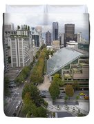 Vancouver Bc Downtown Cityscape View Duvet Cover