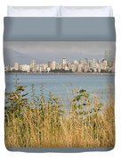 Vancouver Bc Downtown From Hasting Mills Park Duvet Cover