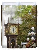 Vancouver Bc Historic Gastown Steam Clock Duvet Cover