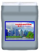 Vancouver Bc Iv Duvet Cover