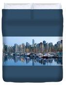 Vancouver Bc Skyline Along False Creek Duvet Cover