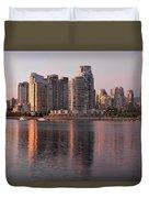 Vancouver Bc Waterfront Condominiums Duvet Cover