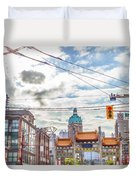 Vancouver China Town Duvet Cover