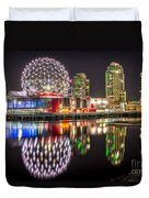 Vancouver Science World In False Creek - By Sabine Edrissi Duvet Cover