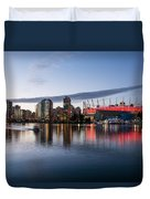 Vancouver Skyline With Bc Place Duvet Cover