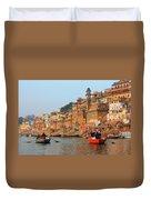 Varanasi From The Ganges River Duvet Cover