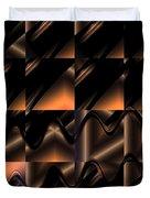 Variations In Brown Duvet Cover