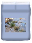 Varied Desert Flora Along Barker Dam Trail In Joshua Tree Np-ca Duvet Cover