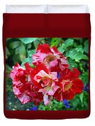 Variegated Multicolored English Roses Duvet Cover
