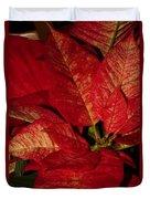 Variegated Poinsettia II Duvet Cover