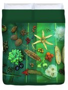 Variety Of Seeds And Fruits Duvet Cover