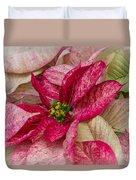 Varigated Poinsettia Duvet Cover