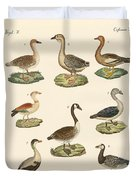 Various Kinds Of Geese Duvet Cover