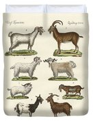 Various Kinds Of Goats And Bucks Duvet Cover