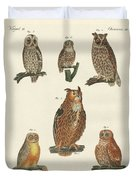Various Kinds Of Owls Duvet Cover
