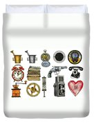 Various Object - Signs - Icons Duvet Cover