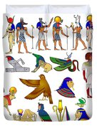 Various Themes Of Ancient Egypt Duvet Cover by Michal Boubin