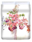 Vase Of Dried Flowers Duvet Cover