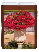 Vase Of Petunias Duvet Cover