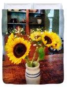 Vase Of Sunflowers Duvet Cover