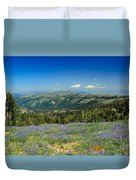 Vast View And Lupine Duvet Cover