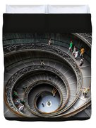 Vatican Spiral Staircase Duvet Cover by Inge Johnsson