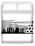 vector Rio skyline with ball Duvet Cover