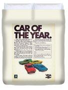 Vega - Car Of The Year 1971 Duvet Cover