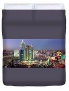 Vegas Skyline Duvet Cover