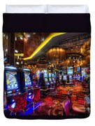 Vegas Slot Machines Duvet Cover