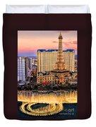 Vegas Water Show Duvet Cover