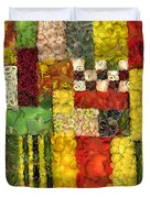 Vegetable Abstract Duvet Cover
