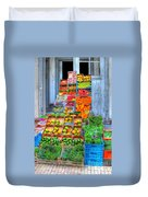 Vegetable And Fruit Stand Duvet Cover