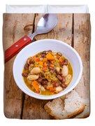 Vegetarian Chili With Pesto Duvet Cover