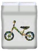 Green Yummy Bike Duvet Cover