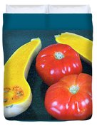 Veggies And Colors Duvet Cover