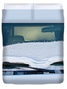 Vehicle Windshield Fresh Snow Thawing Duvet Cover